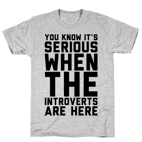 Introvert Protest Mens T-Shirt