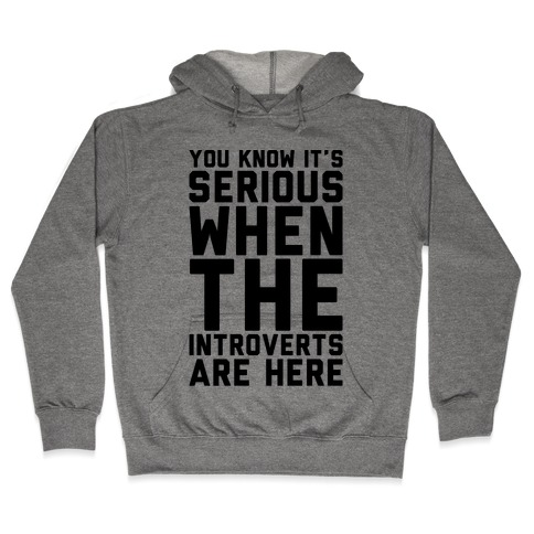 Introvert Protest Hooded Sweatshirt