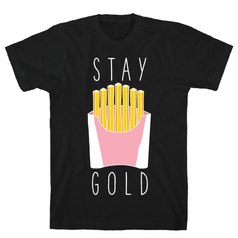 Stay Gold Pink Mens T-Shirt