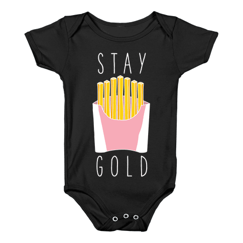 Stay Gold Pink Baby Onesy