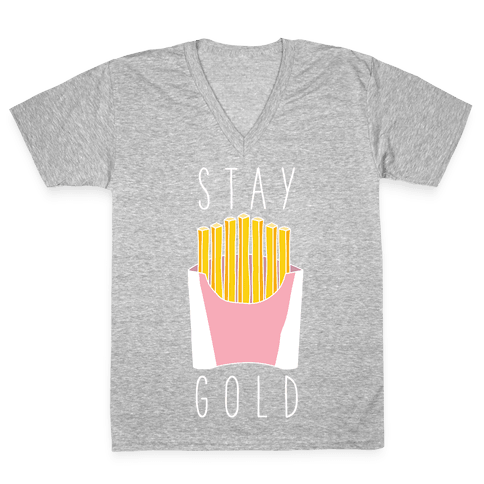 Stay Gold Pink V-Neck Tee Shirt