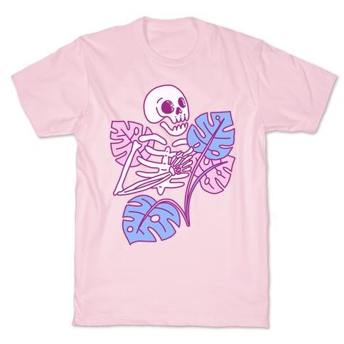Monstera Skeleton T-Shirt