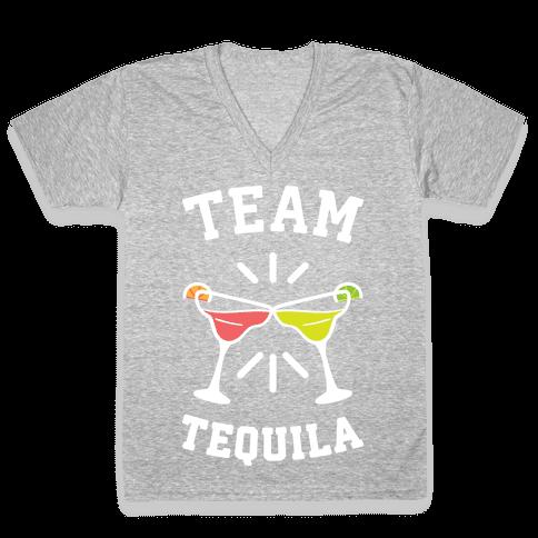Team Tequila (White) V-Neck Tee Shirt