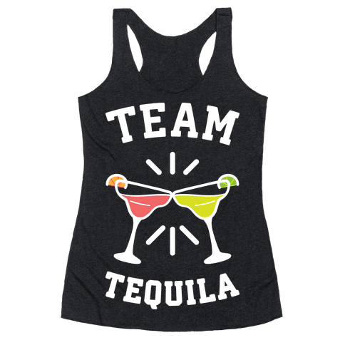 Team Tequila (White) Racerback Tank Top