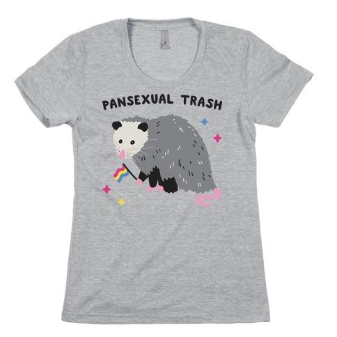 Pansexual Trash Opossum Womens T-Shirt