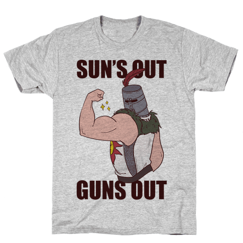 Sun's Out, Guns Out - Solaire  Mens T-Shirt
