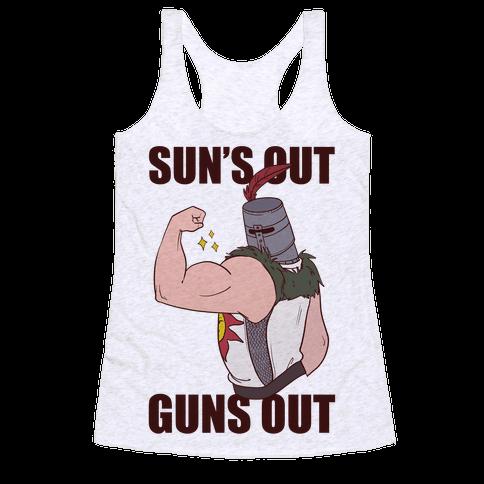 Sun's Out, Guns Out - Solaire  Racerback Tank Top