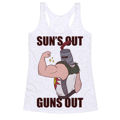 Sun's Out, Guns Out - Solaire  Racerback Tank Top