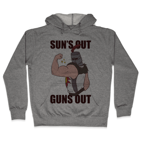 Sun's Out, Guns Out - Solaire  Hooded Sweatshirt