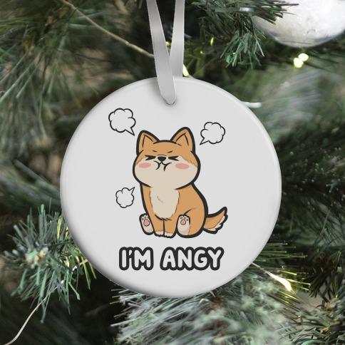 I'm Angy Shiba Inu Ornament