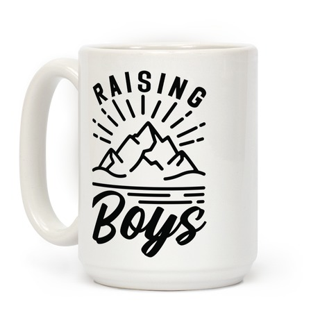 Raising Boys Coffee Mug