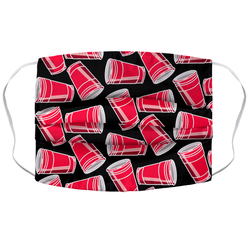 Solo Cup Pattern Accordion Face Mask