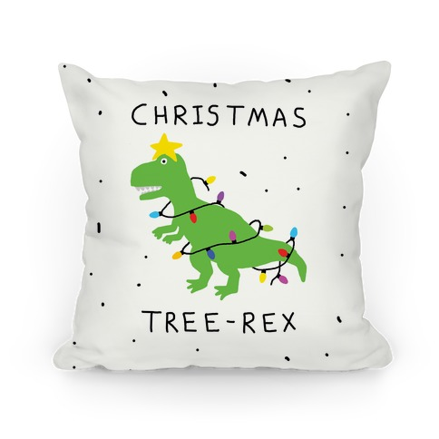 Christmas Tree Rex Pillow