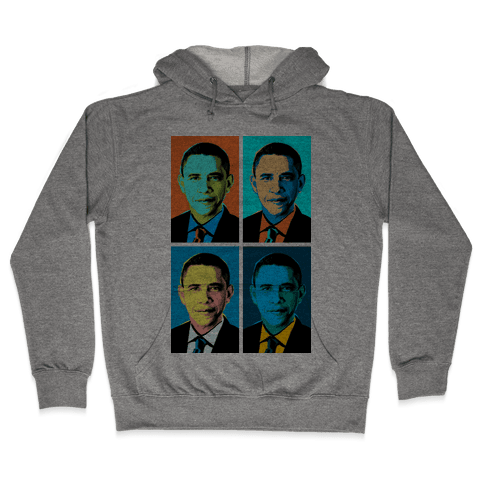 Pop Art Obama Hooded Sweatshirt