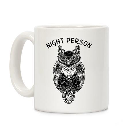 Night Person Owl Coffee Mug