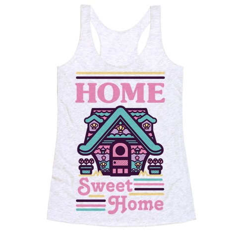 Home Sweet Home Mermaid Series Exterior Racerback Tank Top