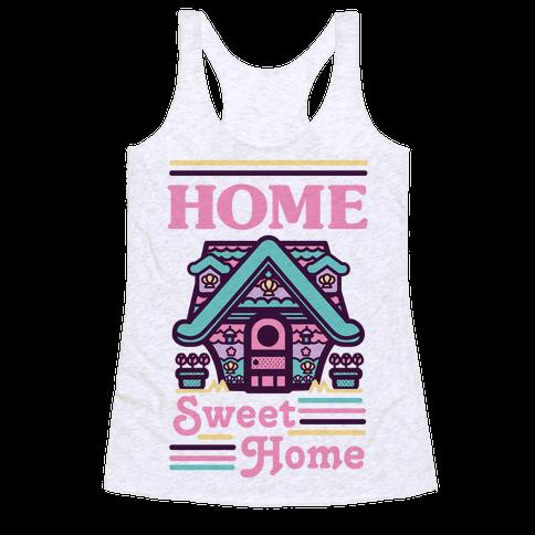 Home Sweet Home Mermaid Series Exterior Racerback Tank Top