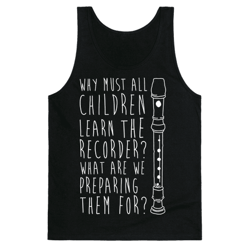 Learn The Recorder Tank Top