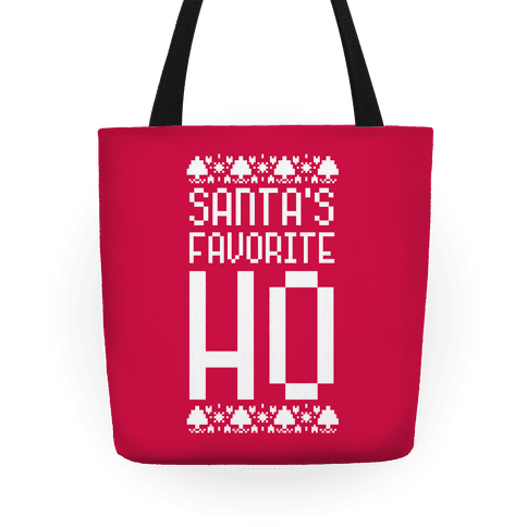 Santa's Favorite Ho Tote