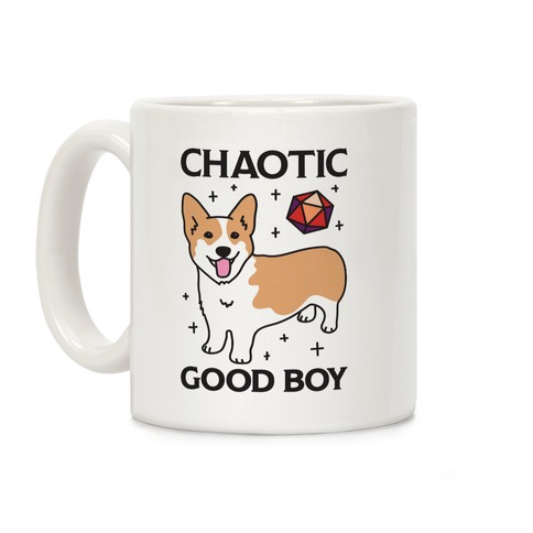 Chaotic Good Boy Corgi Coffee Mug