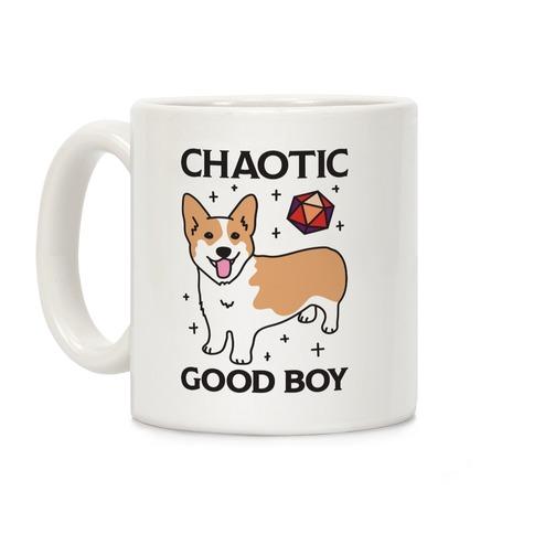 Chaotic Good Boy Corgi Coffee Mug