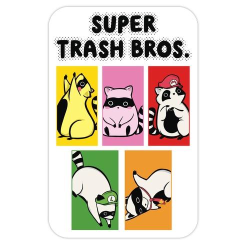 Super Trash Bros. Die Cut Sticker