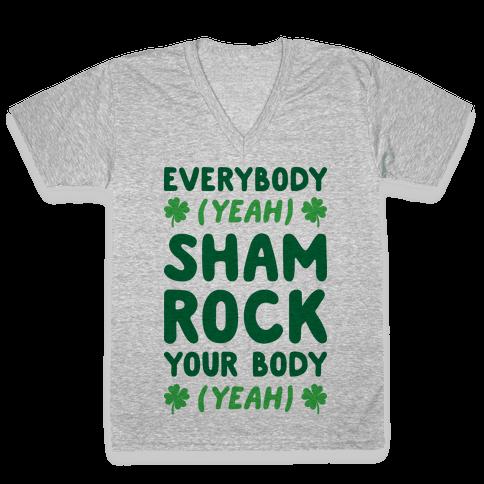 Everybody Shamrock Your Body V-Neck Tee Shirt