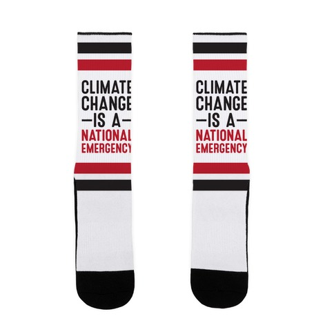 Climate Change is a National Emergency Sock