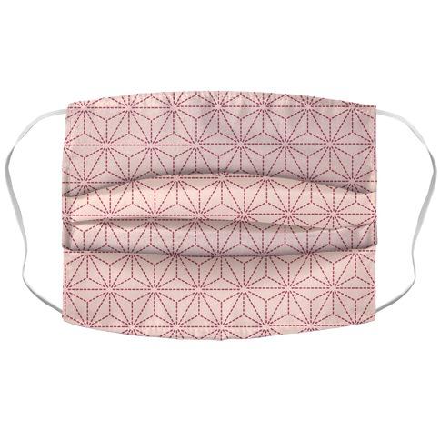 Sashiko Asanoha (Pink) Face Mask Cover