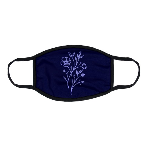 Wildflower Stippled Tattoo Flat Face Mask