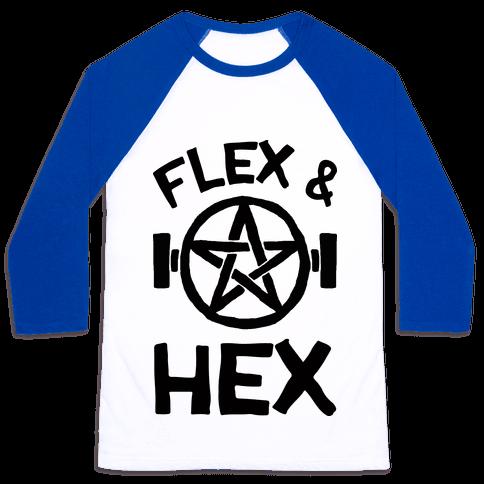 Flex And Hex Baseball Tee