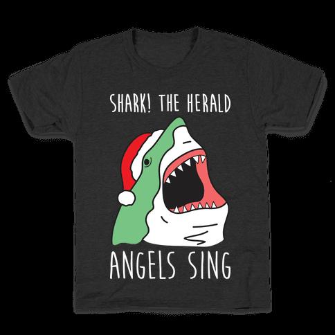 Shark! The Herald Angels Sing Kids T-Shirt