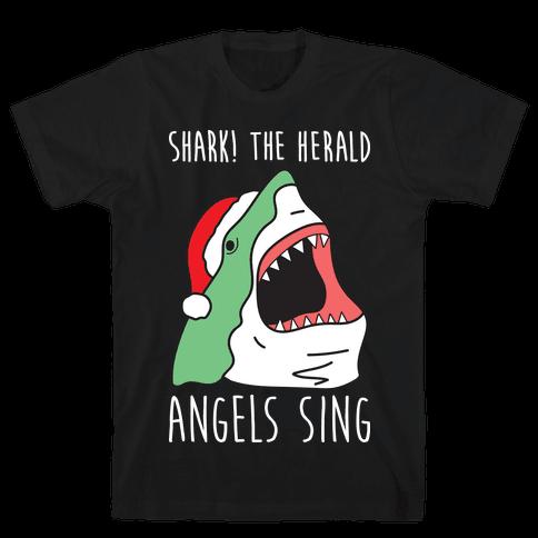 Shark! The Herald Angels Sing Mens T-Shirt