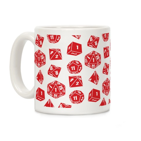 RPG Dice Pattern Coffee Mug