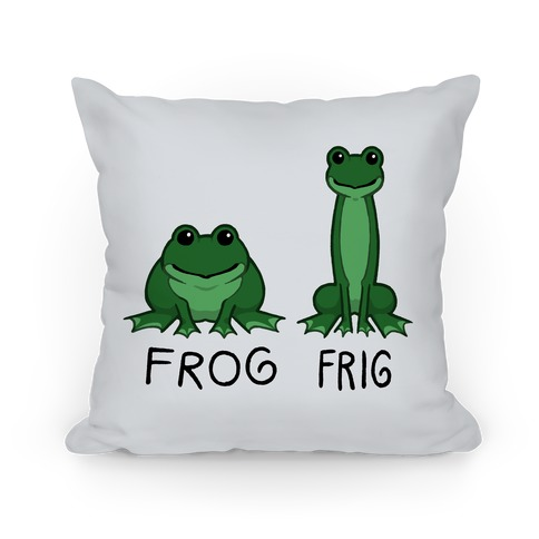 Frog, Frig Pillow