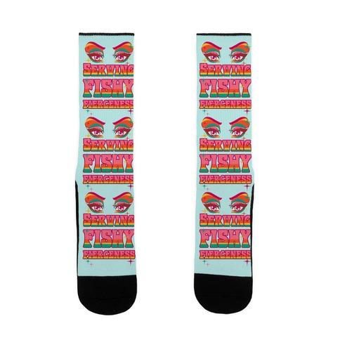 Serving Fishy Fierceness Sock