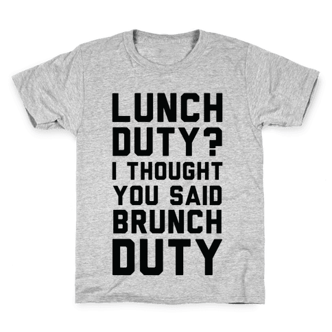 Brunch Duty Kids T-Shirt