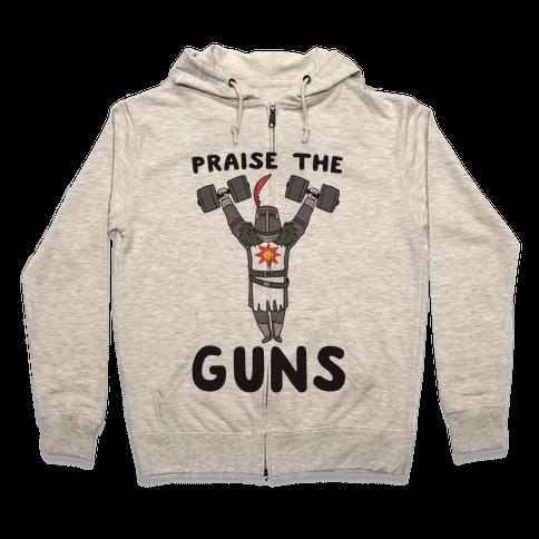 Praise the Guns - Dark Souls Zip Hoodie