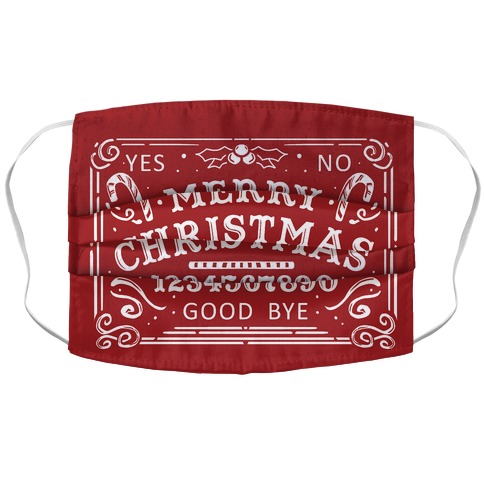 Merry Christmas Ouija Accordion Face Mask