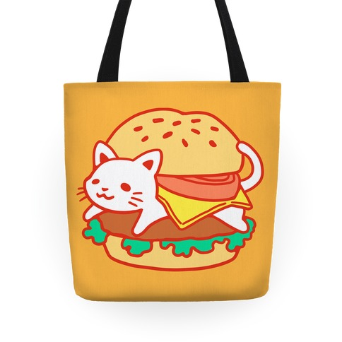 Burger Cat (No Text) Tote