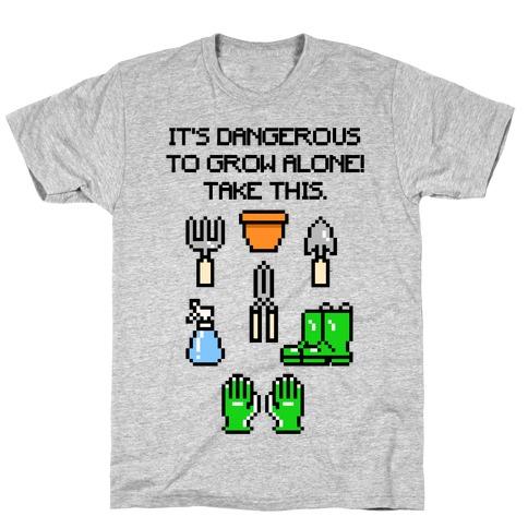It's Dangerous To Grow Alone Parody T-Shirt