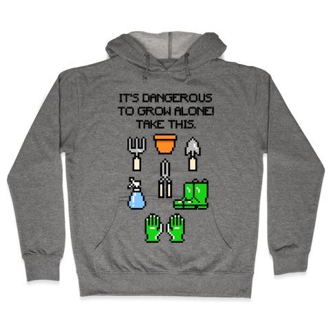 It's Dangerous To Grow Alone Parody Hooded Sweatshirt
