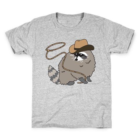 Cowboy Raccoon Lasso Kids T-Shirt