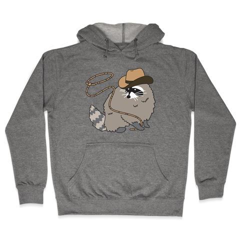 Cowboy Raccoon Lasso Hooded Sweatshirt