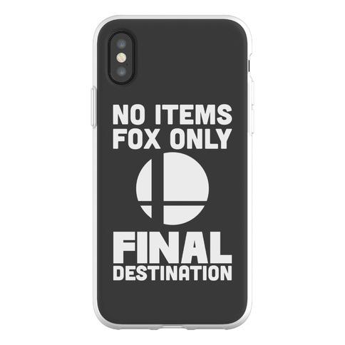 No Items, Fox Only, Final Destination Phone Flexi-Case