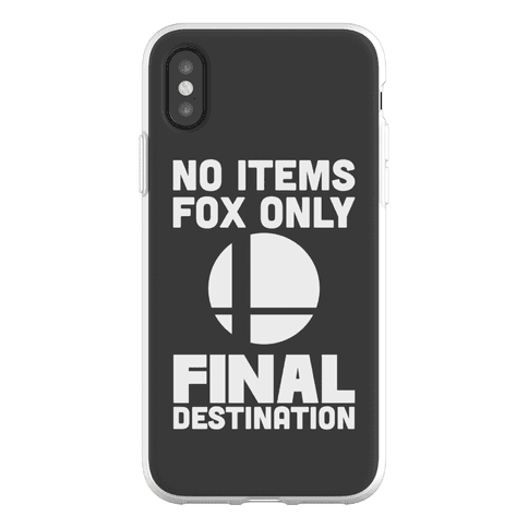 No Items, Fox Only, Final Destination Phone Flexi-Case