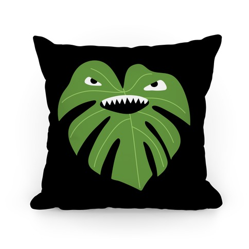 Monstera Leaf Monster Pillow