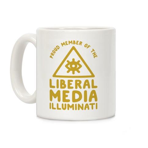 Liberal Media Illuminati Coffee Mug