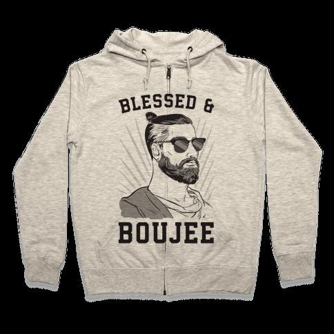 Blessed and Boujee  Zip Hoodie
