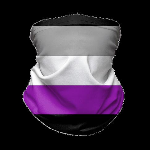 Asexual Pride Flag Neck Gaiter